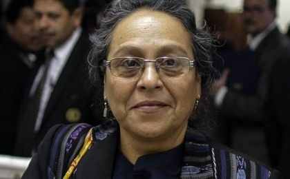 Sandra Moran was part of the women sector that negotiated Guatemala
