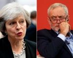 British Prime Minister Theresa May and Labour leader Jeremy Corbyn.
