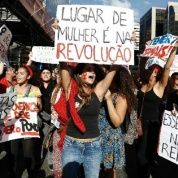 People protest against Brazil