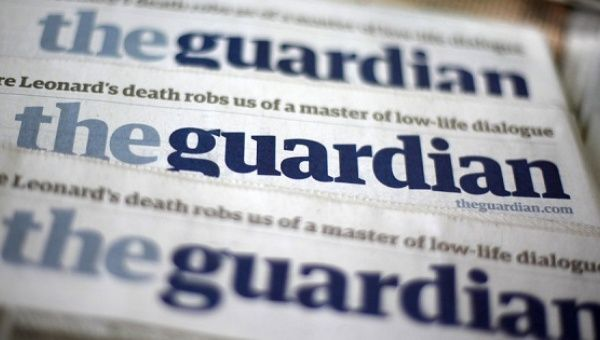 An image of The Guardian newspaper.