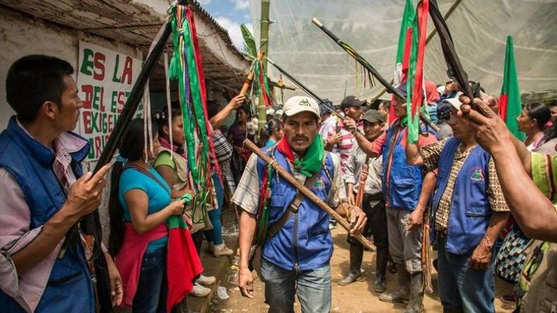 Tens of thousands of peasants, rural workers, and Indigenous people in Colombia fought in the s ummer against massive land inequality and privatization decrees, as well as the right to participate in the ongoing Colombian peace talks, under the banner of the Minga (Strike) of Resistance for Life, Territory, Dignity, Peace, and the Implementation of the Agreements.