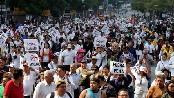 Image result for mexicans protest gas prices