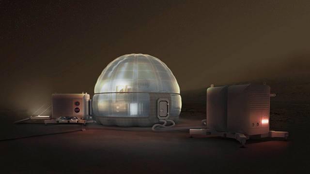 Ya conocemos cómo serán las viviendas en el planeta Marte