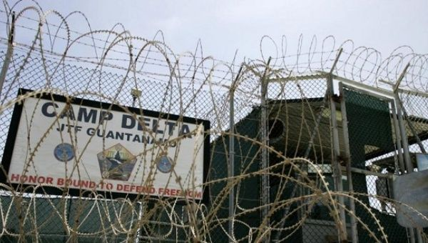 The front gate of Camp Delta is shown at the Guantanamo Bay Naval Station in Guantanamo Bay, Cuba Sep. 4, 2007.