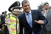 Ecuador's President Rafael Correa attends a graduation ceremony for a National Police professional training program, Nov. 17, 2015.