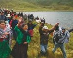 Protest against Newmont Mining Corporation's Conga project in the Cajamarca region on June 17, 2013
