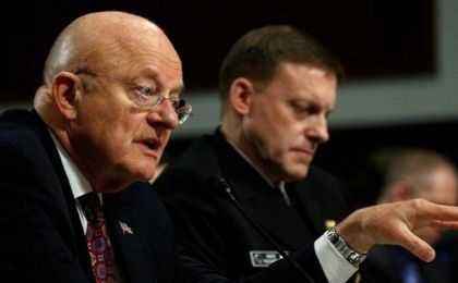 Director of National Intelligence James Clapper testifies before a Senate Armed Services Committee hearing on foreign cyberthreats, Washington, U.S., Jan. 5, 2017.