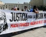 Protesters in Santiago, Chile demand the release of the Mapuche spiritual leader Francisca Linconao.