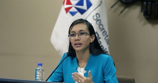 Sandra Naranjo, a graduate in economics and finance with a specialization in mathematics, will still be in charge of the National Secretariat for Planning and Development