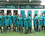 Players of Brazilian soccer team Chapecoense pose for a photograph, in Chapeco, Brazil Jan. 6, 2017.