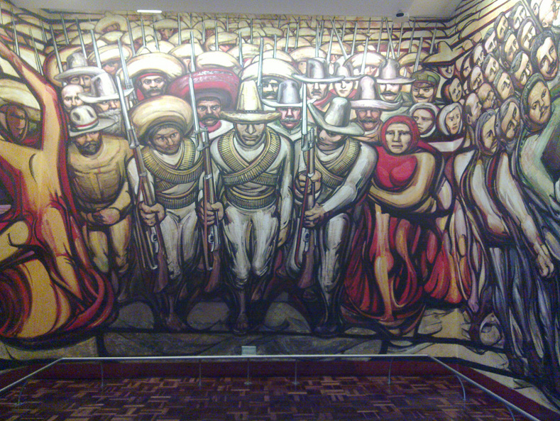 Commemorating mexican muralist david alfaro siqueiros for Mural siqueiros