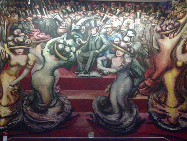 Commemorating mexican muralist david alfaro siqueiros for David alfaro siqueiros mural tropical america