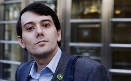 Martin Shkreli, former chief executive officer of Turing Pharmaceuticals departs after a hearing at U.S. Federal Court in Brooklyn, New York, U.S. on Oct. 14, 2016.