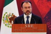 Mexico's Foreign Minister Luis Videgaray delivers a speech during a meeting with diplomatic corps in Mexico City, Mexico, Jan. 9, 2017.