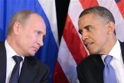 U.S. President Barack Obama (R) listens to Russian President Vladimir Putin at a meeting on the sidelines of the G20 summit in Los Cabos, Mexico, on June 18, 2012.