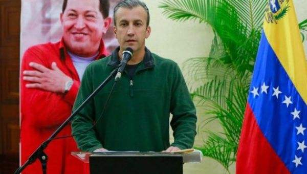 Venezuelan Vice President Tarek El Aissami announcing the arrest of opposition deputy Gilber Caro, Jan. 11, 2017.