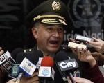 General Oscar Adolfo Naranjo speaks at a news conference on the march against kidnapping in Bogota, Dec. 6, 2011.
