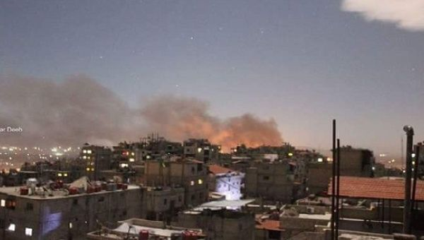Israeli warplanes bombed the Mezza military airport close to the Syrian capital of Damascus.