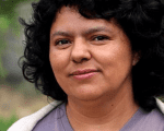 Environmental and Indigenous rights leader Berta Caceres, who was shot dead last year in her home in Honduras, is pictured in a handout from the Goldman Environmental Prize, an award she won in 2015.