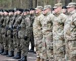 U.S soldiers arrive to Zagan as part of NATO deployment, Zagan, Poland Jan. 12, 2017.