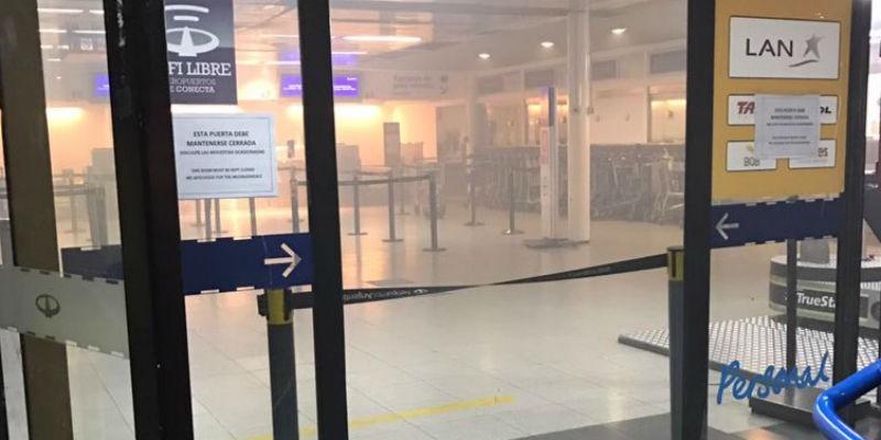Incendio obligó a evacuar aeropuerto de Buenos Aires