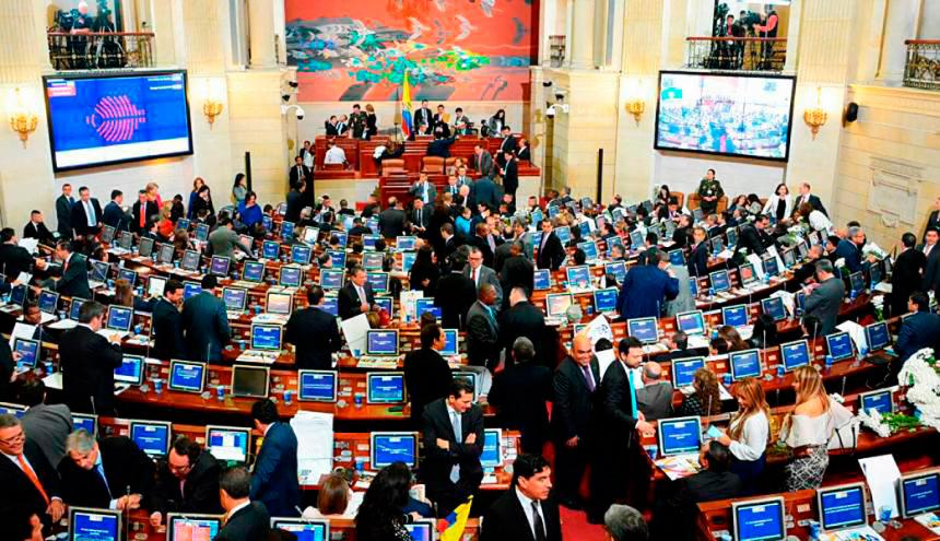 Plenario del Congreso de Colombia.