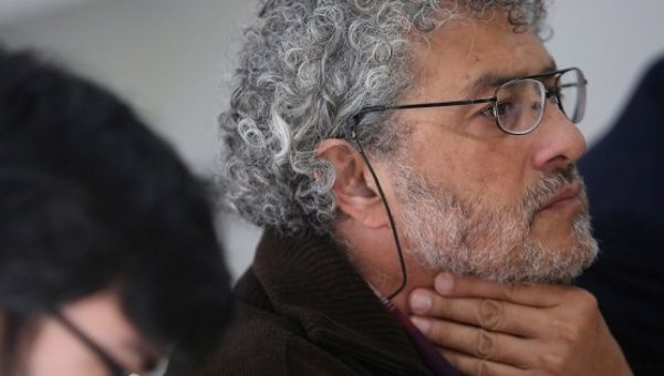 Activist Gustavo Castro Soto at a news conference in Mexico City, Mexico, Jan. 16, 2017