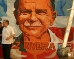 A mural of Oscar López Rivera in Puerto Rico
