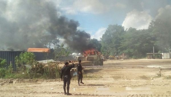 Guatemalan police clashed with environmental protesters, leaving one dead in Ixquisis.