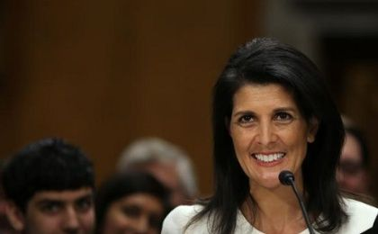 Former South Carolina Governor Nikki Haley testifies before a Senate Foreign Relations Committee confirmation hearing on her nomination to be to U.S. ambassador to the U.N. at Capitol Hill, Washington, D.C.