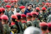 Venezuelan President Nicolas Maduro with the National Bolivarian Armed Forces.