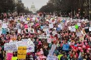 Hundreds of thousands march down Pennsylvania Avenue during the Women's March, Jan. 21, 2017.