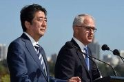 Japanese Prime Minister Shinzo Abe and Australian counterpart Malcolm Turnbull in Sydney this month.