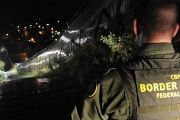 US Customs and Border Patrol agent at the U.S.-Mexico border in Arizona