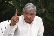 Andres Manuel Lopez Obrador, leader of Mexico's MORENA party.