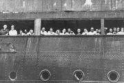 Jewish refugees fleeing the Nazi's aboard the MS St. Louis, which was turned back at the U.S. border, condeming all its passengers to death during the Holocaust