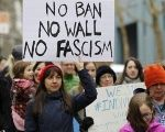Activists march to protest against President Donald Trump's travel ban in Portland, Oregon, U.S. Jan. 30, 2017.