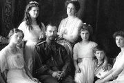 Nicholas II of Russia with his family in a 1913 portrait.