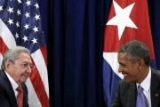 Cuban President Raul Castro said during Barack Obama's visit to the island that the blockade must end.