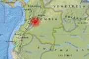 The epicenter of the quake was over 85 miles south of Bogota.