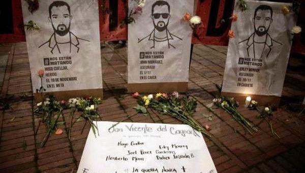 Aumentan en Colombia crímenes contra activistas y líderes sociales defensores de los derechos humanos y la paz.
