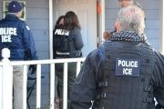ICE agents during last week's immigration raids in Atlanta, Georgia. Feb. 11, 2017