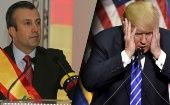 "Venezuelan Vice President Tareck El Aissami (L) and U.S. ""Insane Clown President"" Donald Trump (R)"