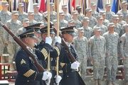Members of the Indiana National Guard Honor Guard during a ceremony, Aug. 26, 2009.