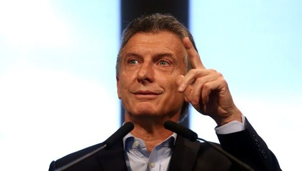 Argentine President Mauricio Macri gestures during a news conference at the Casa Rosada Presidential Palace in Buenos Aires, Argentina, Jan. 17, 2017.