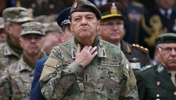 Former head of the Argentine Army, Cesar Milani.