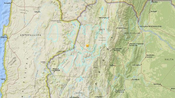 Fuertes sismos en Chile y Argentina, sin consecuencias