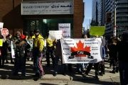 The anti-Muslim rally held outside a Toronto mosque.