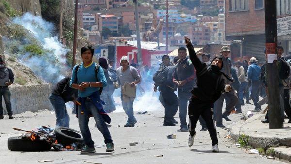Resultado de imagen para derecha VIOLENCIA EN BOLIVIA