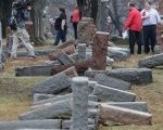 More than 170 Jewish headstones are toppled after a weekend of vandalism. attack on Chesed Shel Emeth Cemetery in a suburb of St Louis, Missouri.